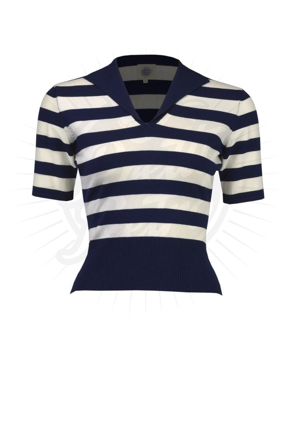 Trui Sweater.Sweater Trui Retro Blauw Wit Gestreept Online Kopen
