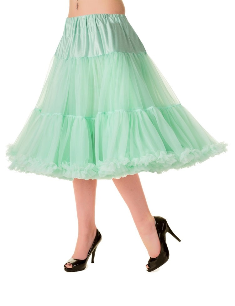 Petticoat Starlite over de knie met extra volume, mint