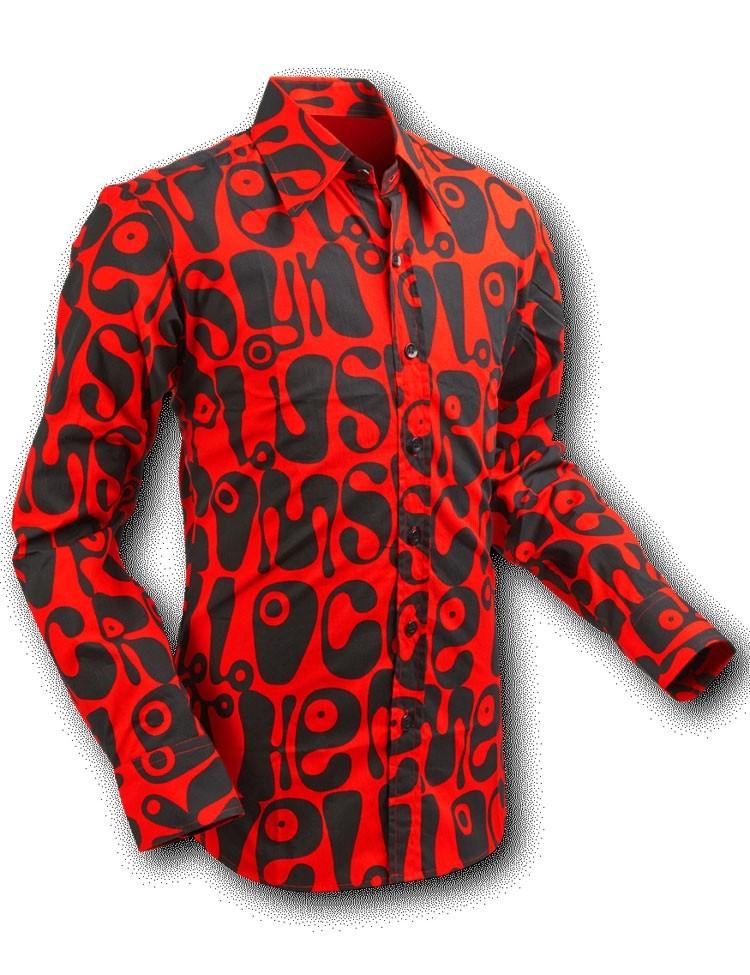 Overhemd Rood Zwart.Overhemd Seventies Moloko Rood Zwart Chenaski Online Kopen