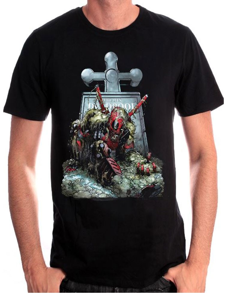 T-Shirt Deadpool Tombstone