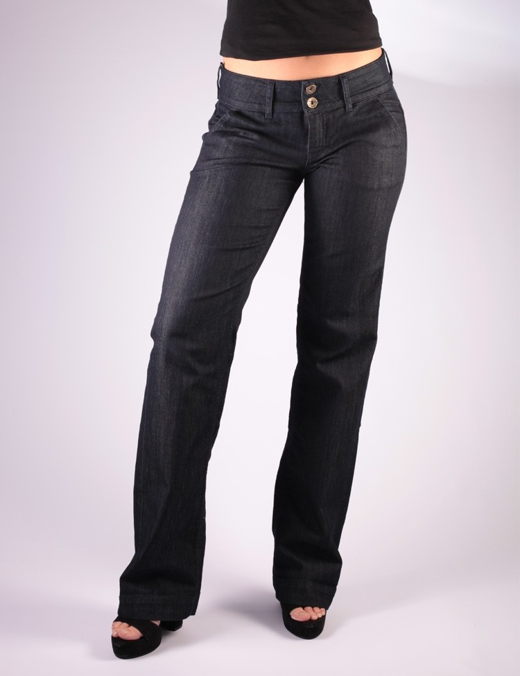 Jeans Pantalon Lilia, donkere denim, Ato-Berlin