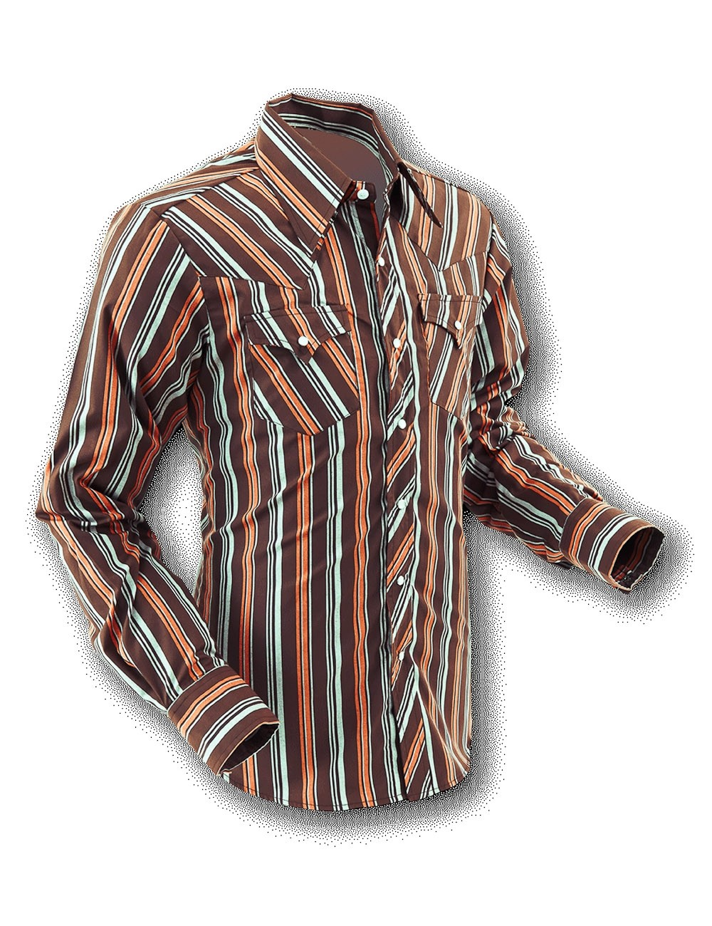 Overhemd Cowboy Brown Stripes
