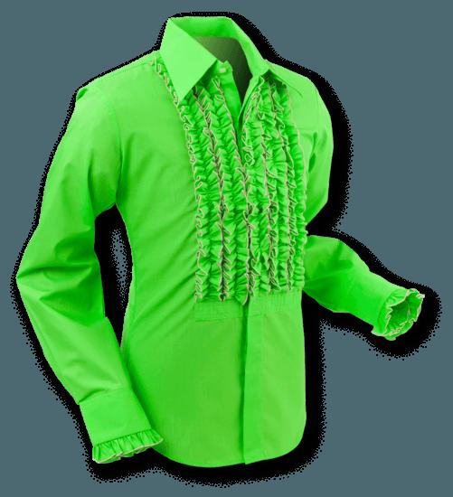 Overhemd Ruche Lime