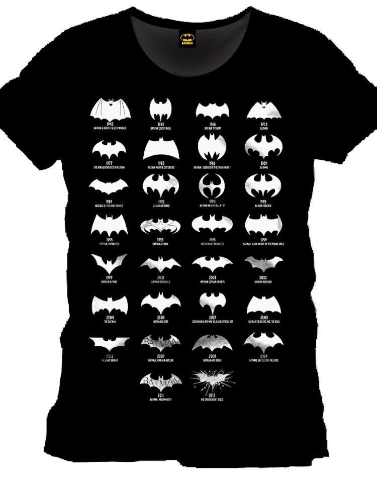 T-Shirt Batman Logo Evolution