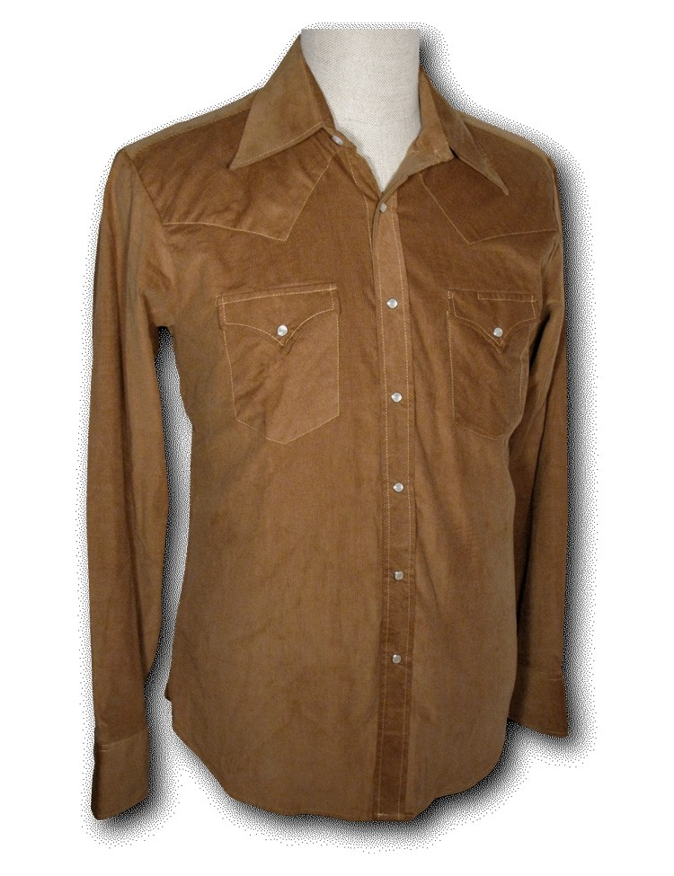 Overhemd Cowboy Corduroy light brown