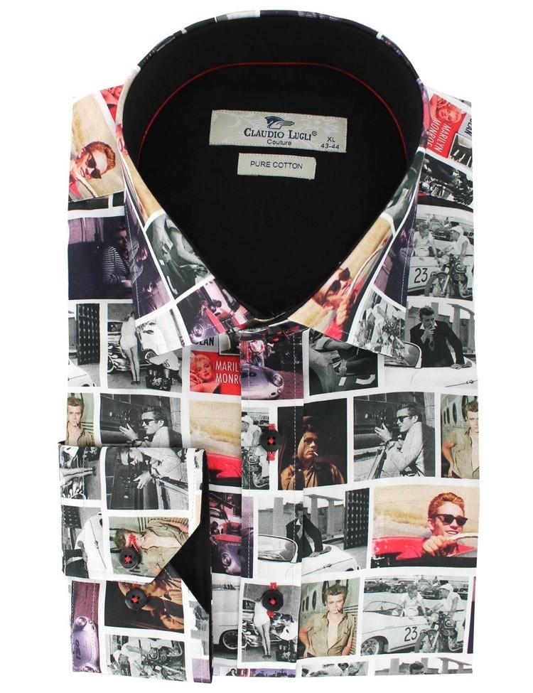 Overhemd James Dean print