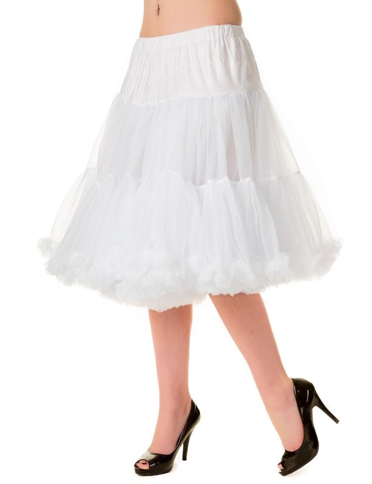 Petticoat Starlite over de knie met extra volume Wit