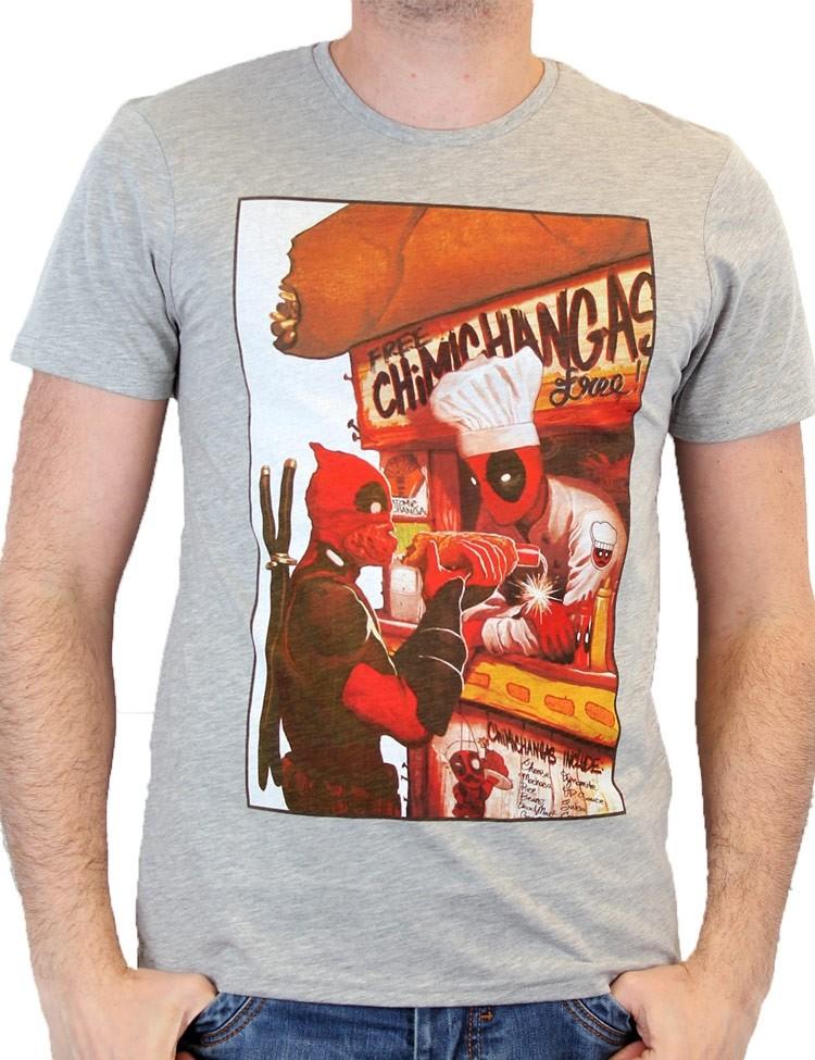 T-shirt DeadpooL Free Chimichangas
