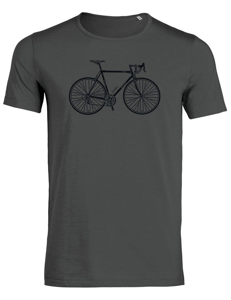 T-shirt Bike Retro Anthracite
