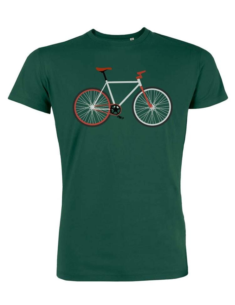 T-shirt Bike Easy Groen