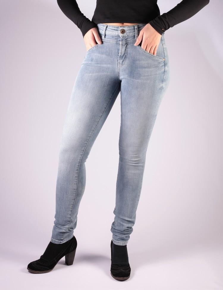Skinny Jeans Kandy Blauw Used