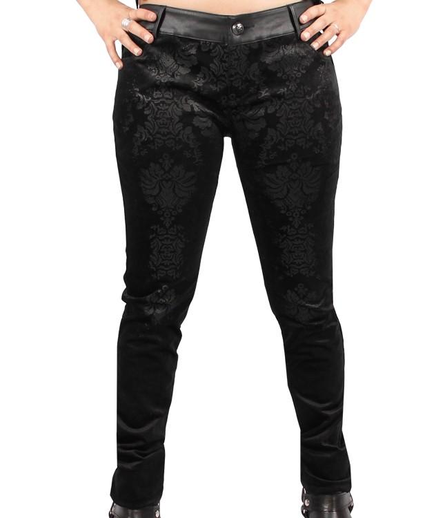 Pants Velvet with Brokaat print