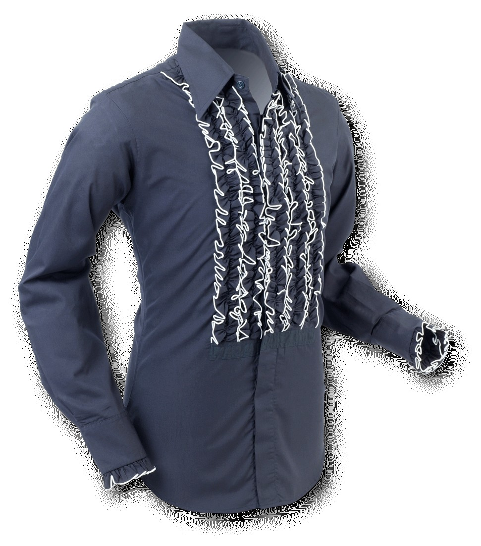 Overhemd Ruche Black White Trim