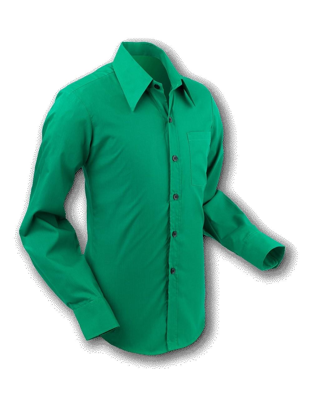 Overhemd 70s Basic Teal-Green