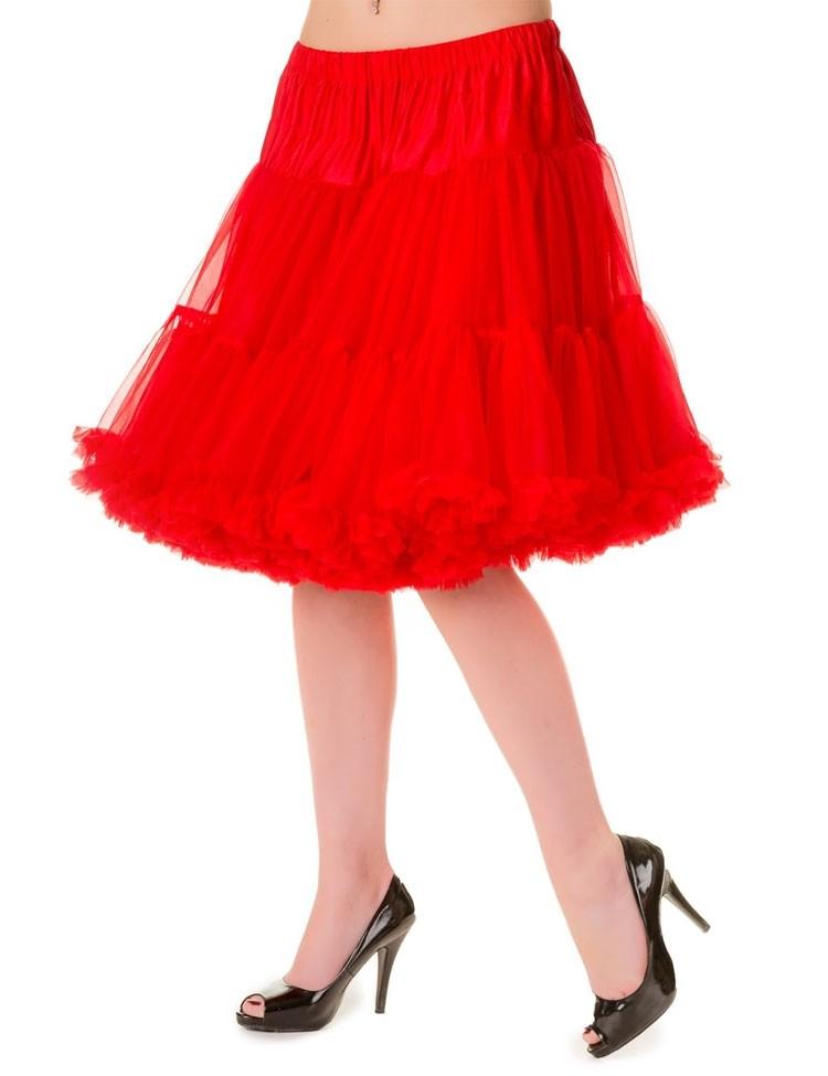 Petticoat Walkabout Knielang met extra volume Red