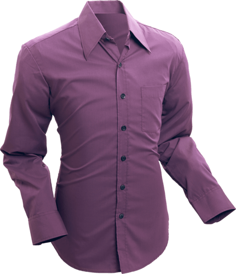 Overhemd 70s Basic Aubergine