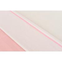 Foto van Jollein laken 75x100cm wit met bies l roze
