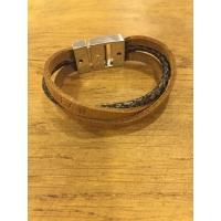 Foto van Izzyz armband 3xleer met naam