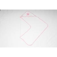 Foto van Snoozestar badcape wit roze rand