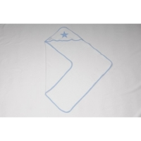 Foto van Snoozestar badcape wit blauw rand