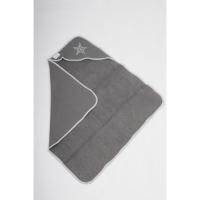 Foto van Snoozestar badcape grijs grijs rand