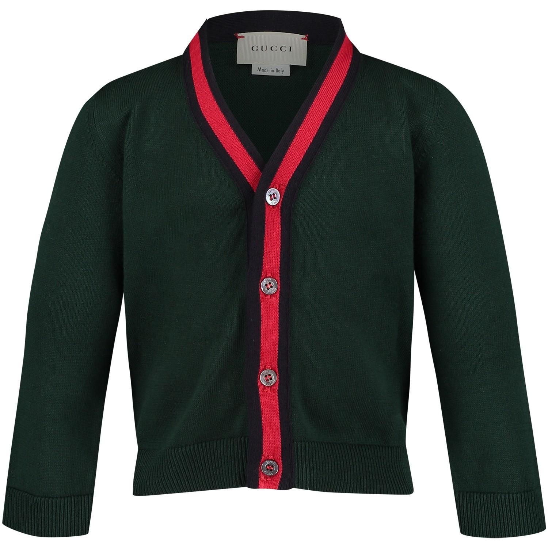 Afbeelding van Gucci 457691 baby vest donker groen