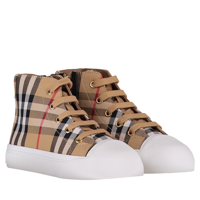 39042d96dac Burberry 4076316 unisex junior kindersneakers wit bij Coccinelle