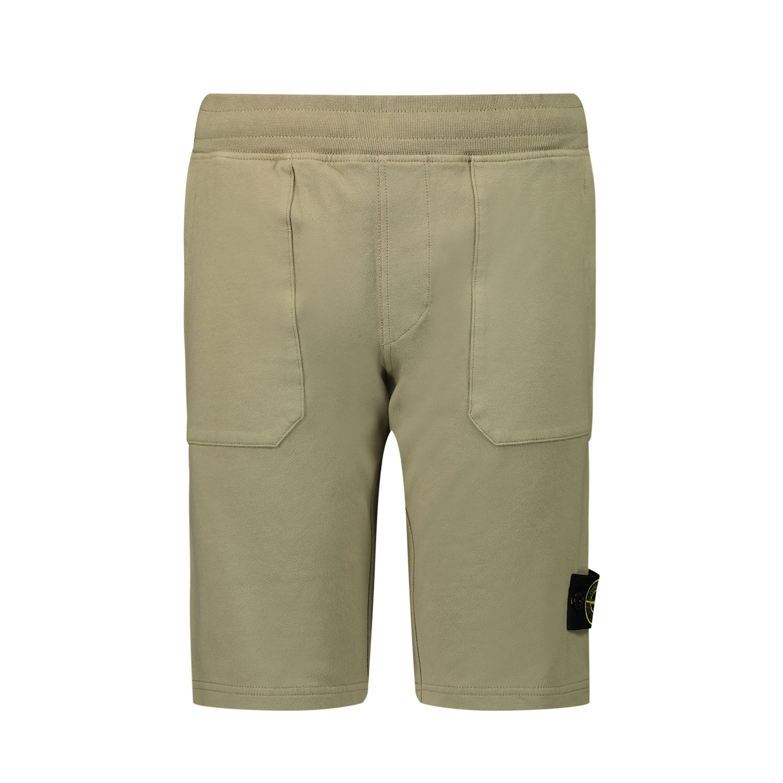 Afbeelding van Stone Island 61442 kinder shorts beige
