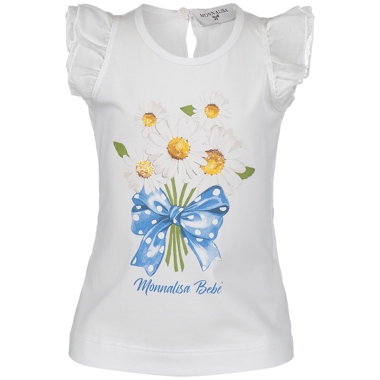 Afbeelding van MonnaLisa 313618SZ baby t-shirt wit