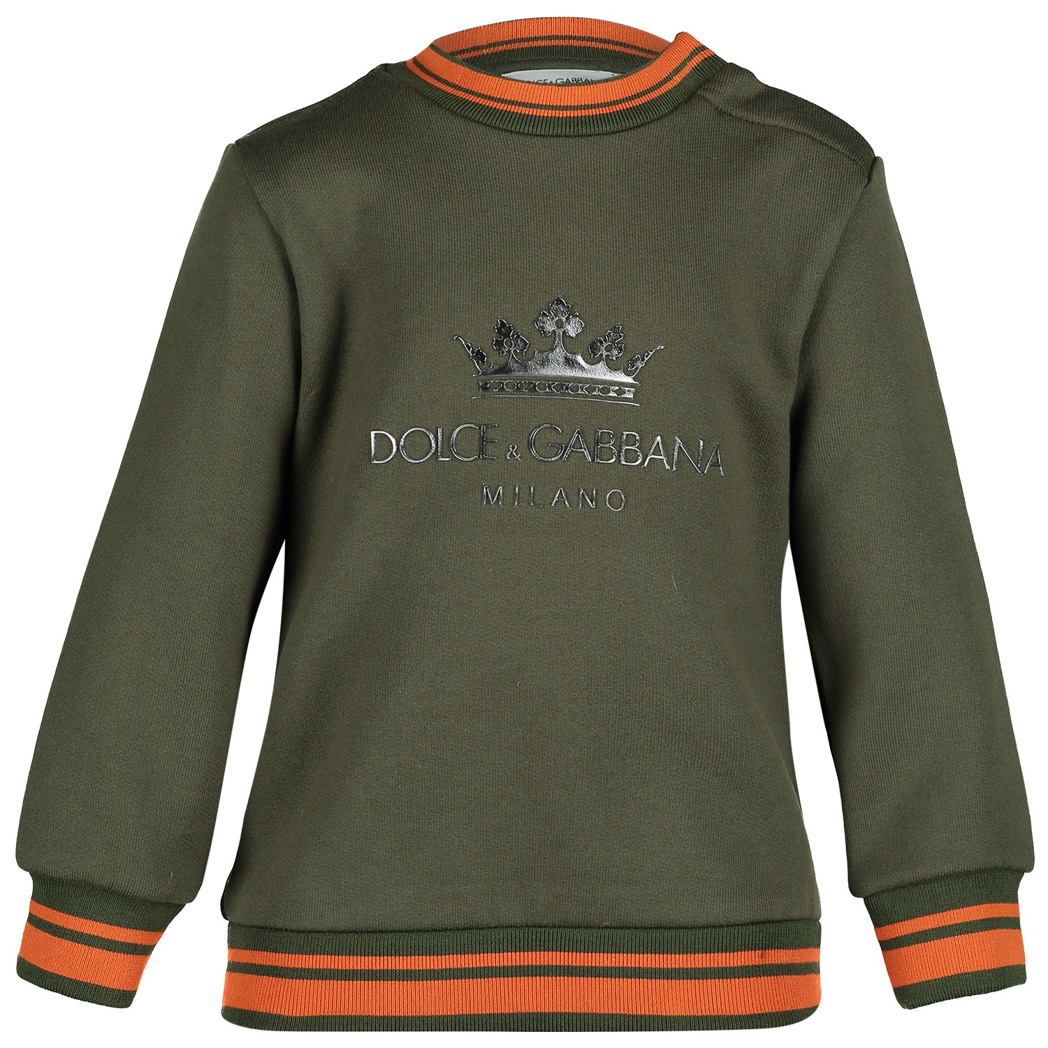 Picture of Dolce & Gabbana L1JW0K baby sweater army