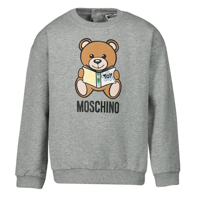 Afbeelding van Moschino MUF02Z baby trui grijs