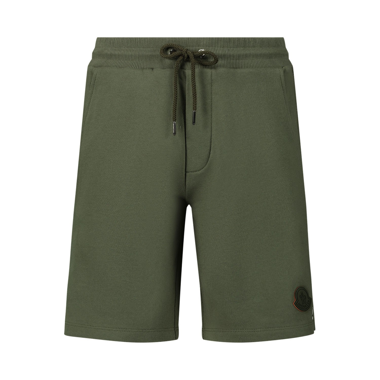 Afbeelding van Moncler 8H71120 kinder shorts army