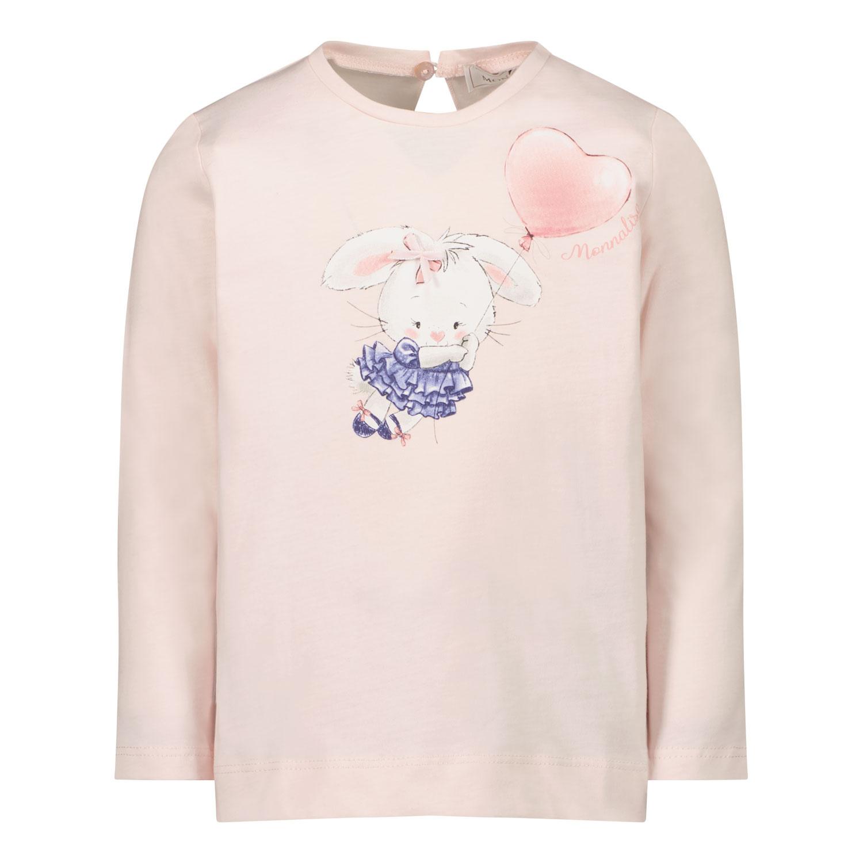 Afbeelding van MonnaLisa 318619PU baby t-shirt licht roze