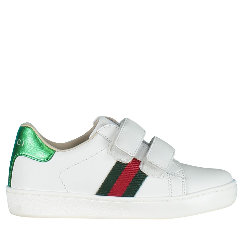 15d43833ce2 Afbeelding van Gucci 455447 CPWP0 kindersneakers wit