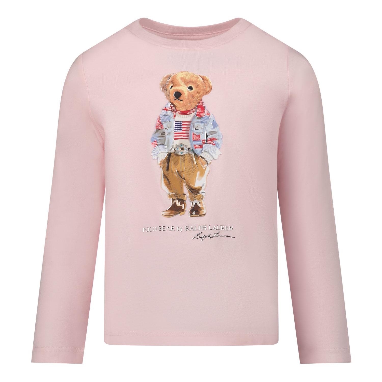 Afbeelding van Ralph Lauren 854212 kinder t-shirt licht roze