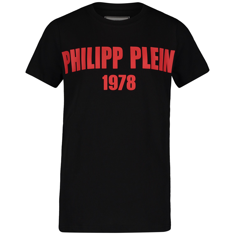 Afbeelding van Philipp Plein BTK0669 kinder t-shirt zwart