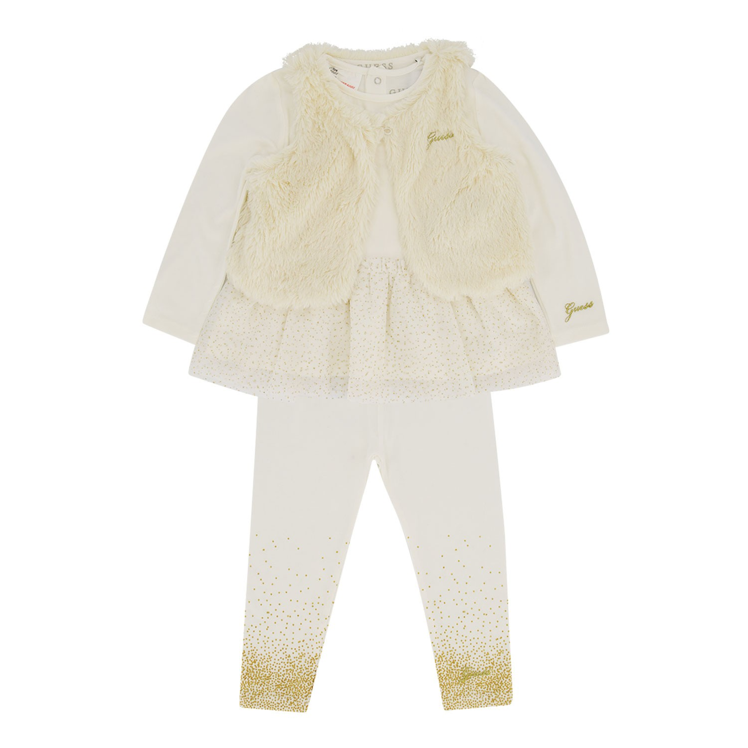 Afbeelding van Guess A94G09 babysetje off white