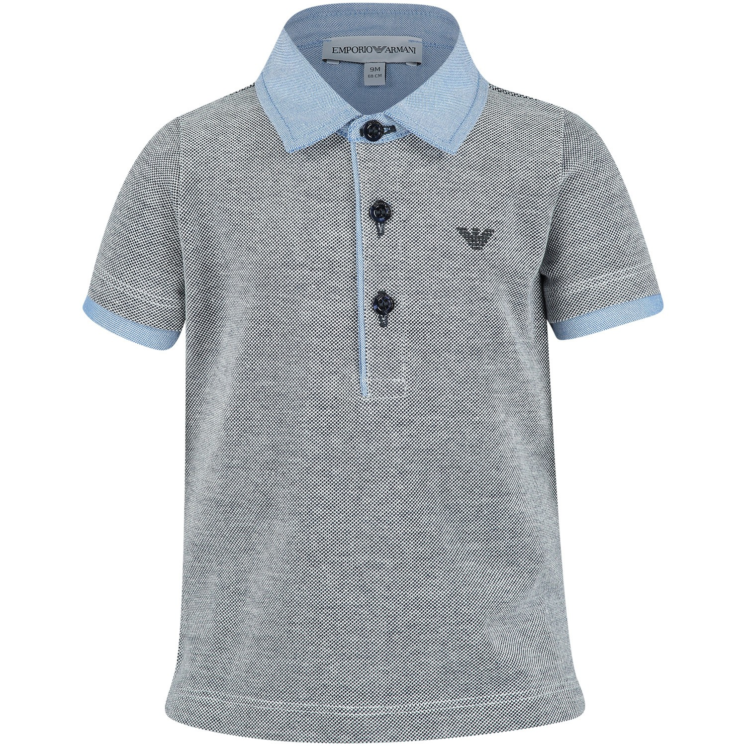 Picture of Armani 3GHF06 baby poloshirt blue