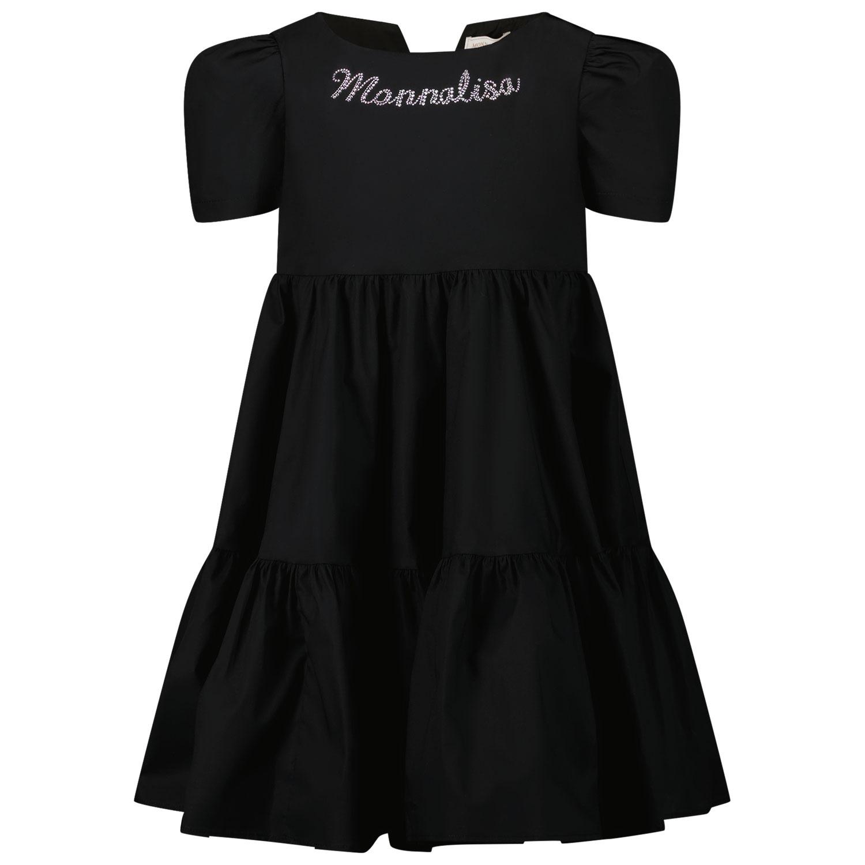 Afbeelding van MonnaLisa 177904A1 kinderjurk zwart