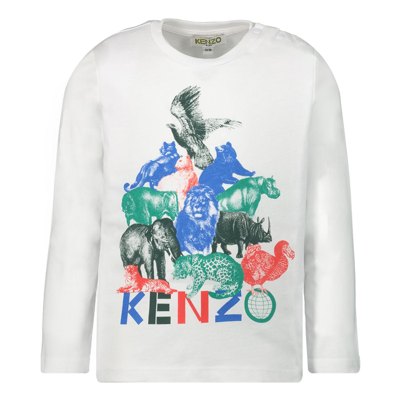 Afbeelding van Kenzo KP10517 baby t-shirt wit