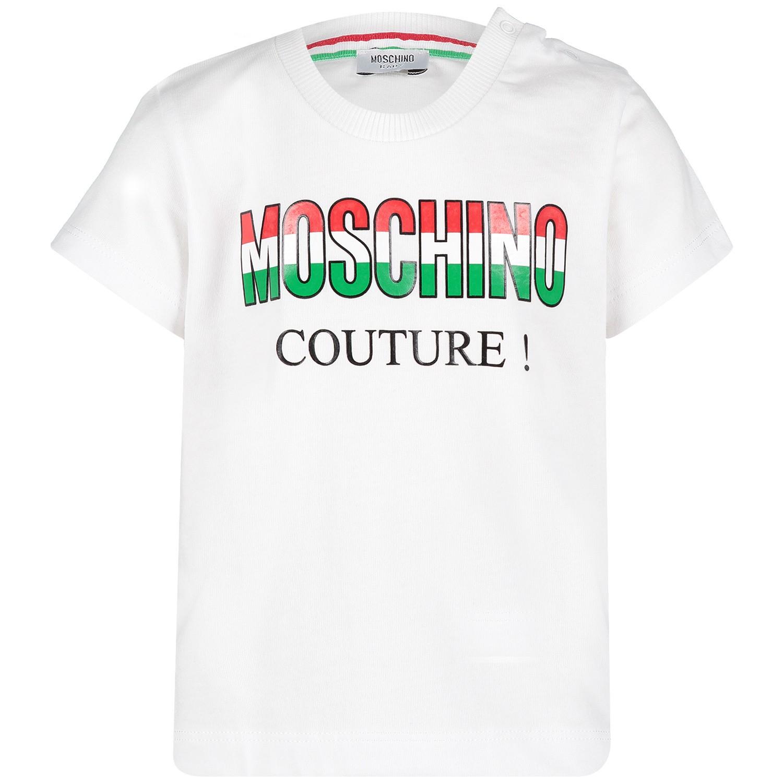 Picture of Moschino MMM021 baby shirt white
