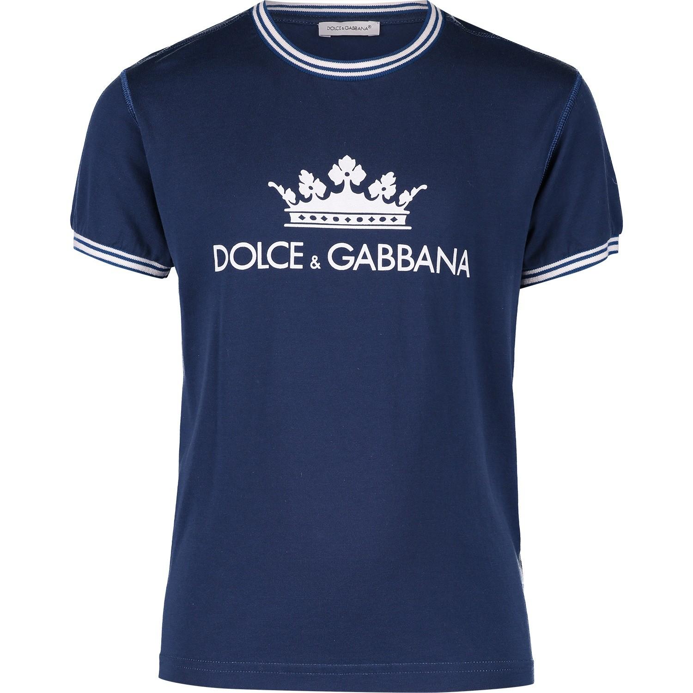 Afbeelding van Dolce & Gabbana L4JT7L kinder t-shirt petrol