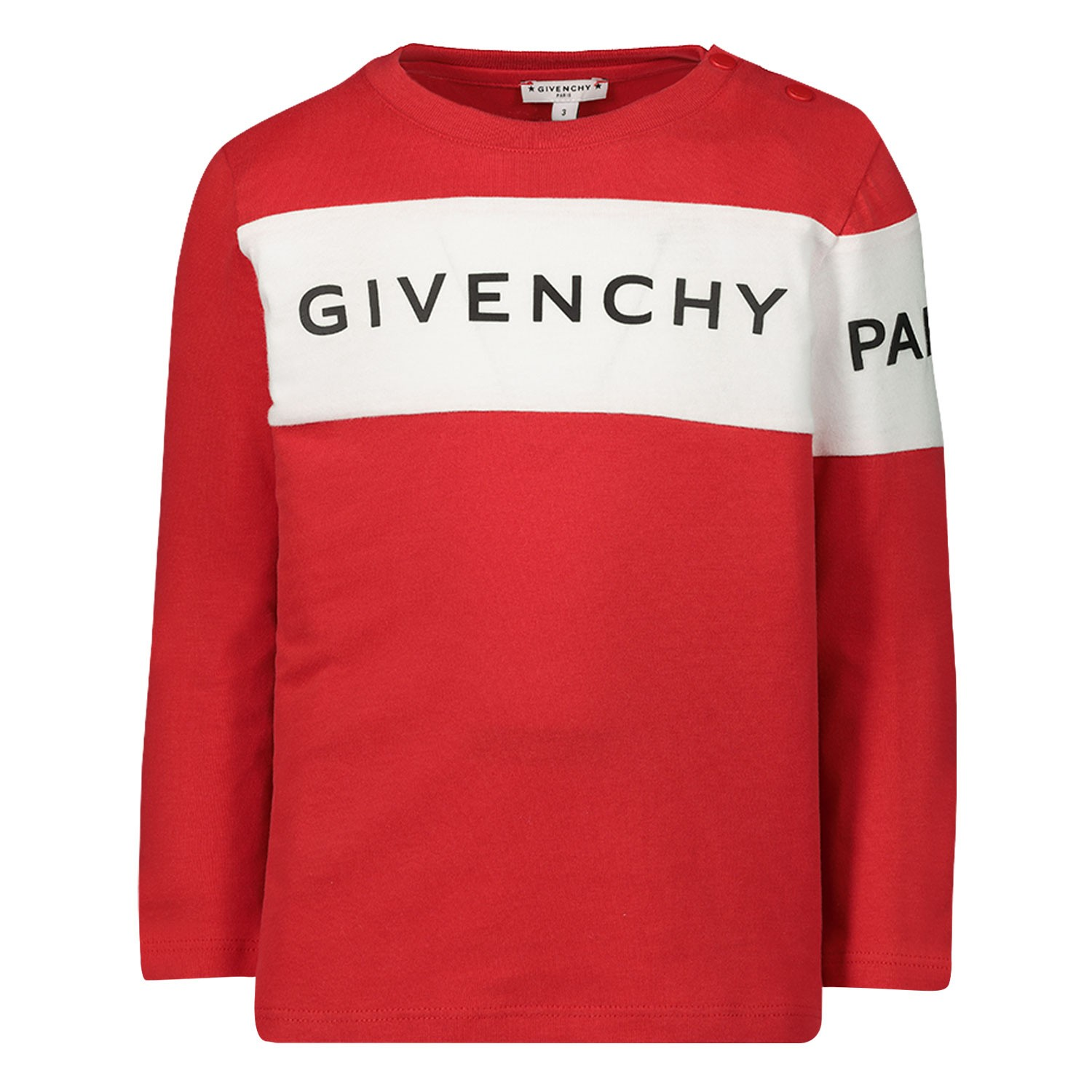 Afbeelding van Givenchy H05090 baby t-shirt rood