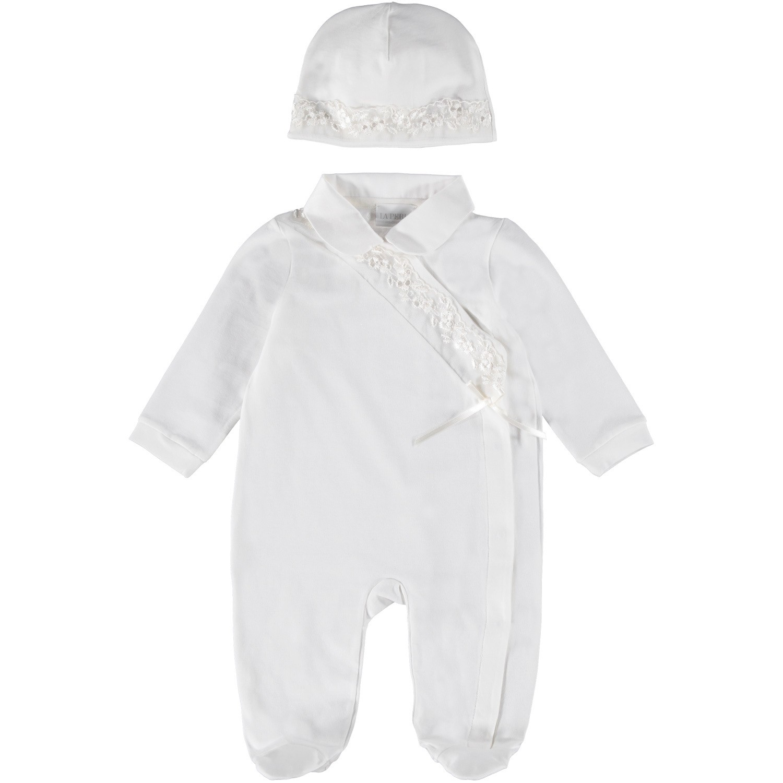 Picture of La Perla 48572 baby playsuit white
