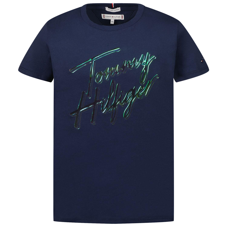 Afbeelding van Tommy Hilfiger KG0KG05870 kinder t-shirt navy