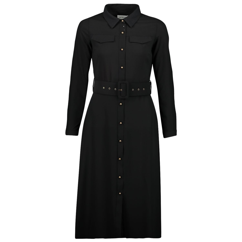 Afbeelding van EST'SEVEN EST LONGDRESS dames jurk zwart