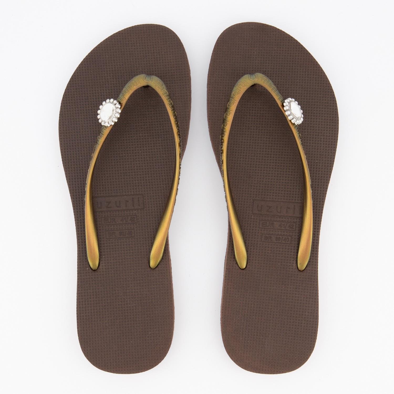 Afbeelding van UZURII SWITCH DISPLAY dames slippers bruin