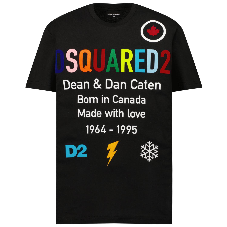 Afbeelding van Dsquared2 DQ0516 kinder t-shirt zwart