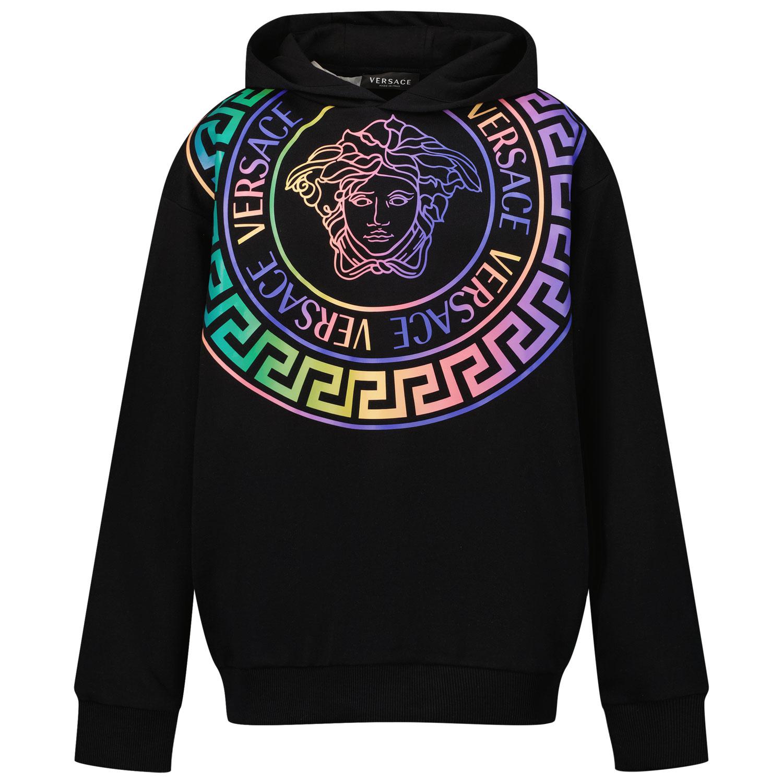 Afbeelding van Versace 1000352 1A01337 kindertrui zwart