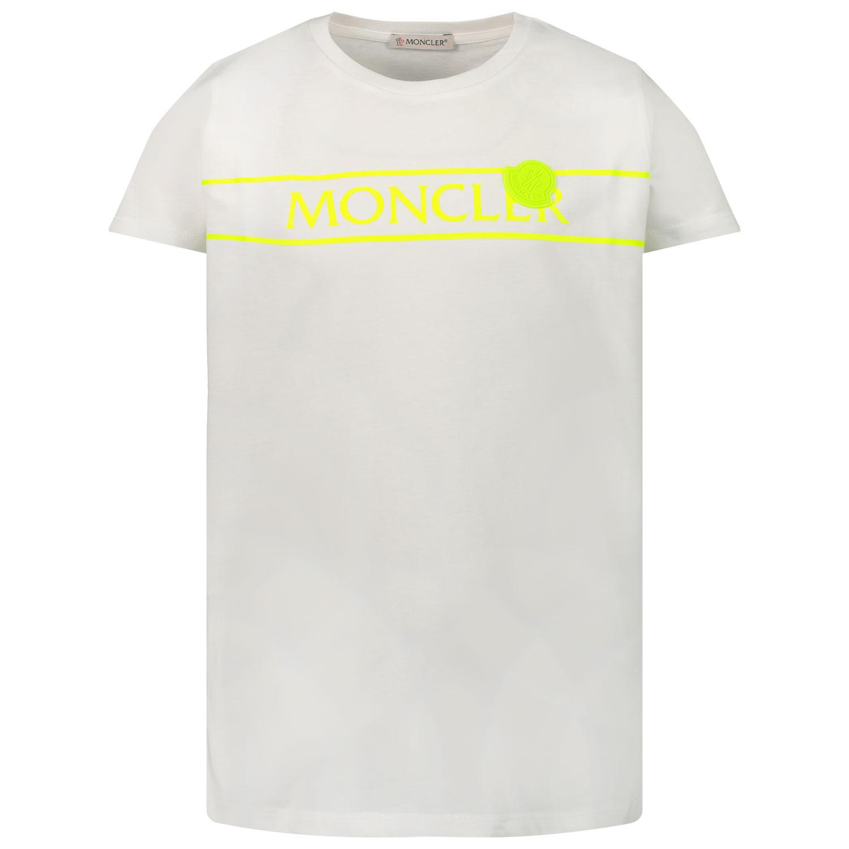 Afbeelding van Moncler 8C74410 kinder t-shirt wit